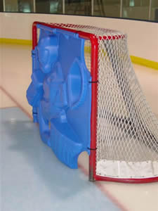 Goalie Training Gear - 3-D design allows it to deflect objects in an infinite number of directions and speeds